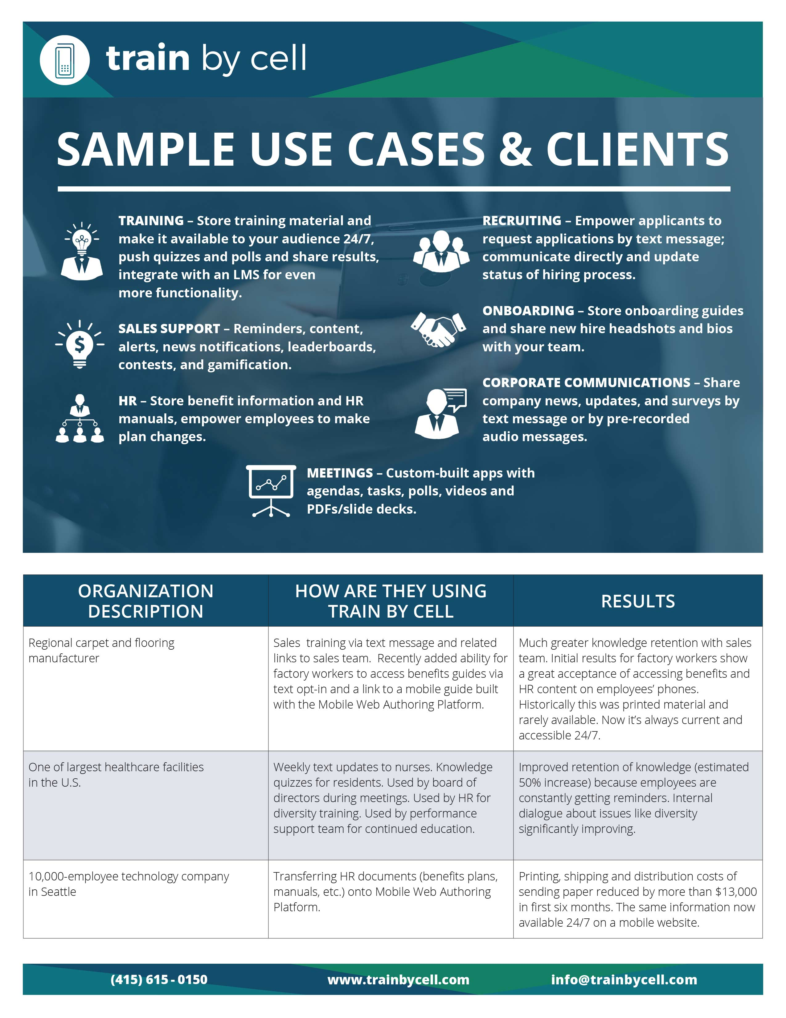 TBC Use Cases