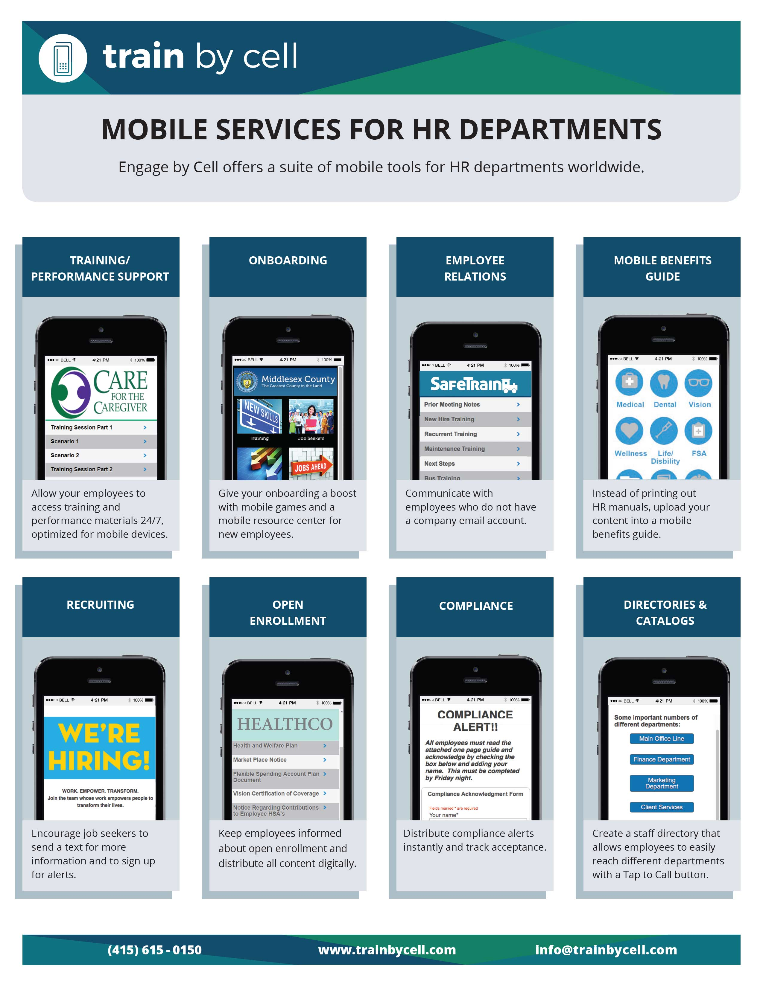 Train by Cell Mobile Service for HR Departments